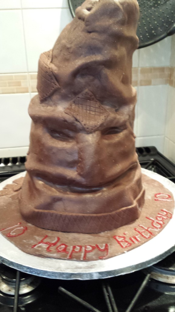 Sorting Hat Cake Instructions